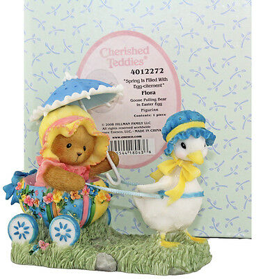 Cherished Teddies Flora Spring is Filled with Egg-citement 4012272 Boxed