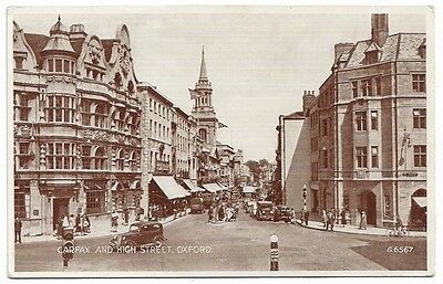 [1205] Oxfordshire R/P Postcard Carfax And High Street Oxford