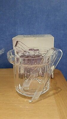 Dartington Shuggy Ice Bucket & Tongs FT375 New & Boxed     1