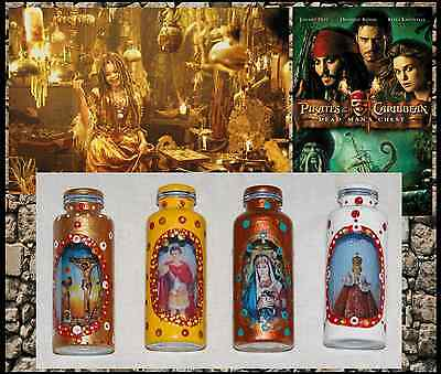 Pirates of the Caribbean 2 - TIA DALMA Production-used VOODOO BOTTLE Prop Lot.