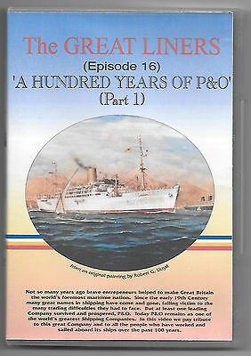 """GREAT LINERS Original DVD Episode 16 """"100 Years of P&O - Part 1"""". Excellent."""