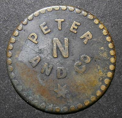 "St. Lucia token - Peter and co. ""N"" (night) - Circular uniface 25mm"
