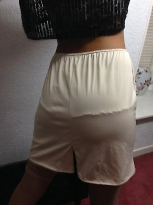 Clingy Nude Half slip,Size 14,Sissy,CD,TV,Sensual glamour, back split detail,