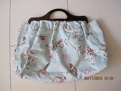 Beautiful Canvas Bird Pattern Brand New Knitting Bag,fully Lined