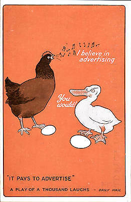 Advertising Poster Style. It Pays To Advertise. Aldwych Theatre. Chicken & Duck.