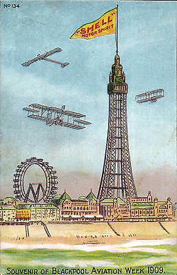Advertising Poster Style. Shell Motor Spirit # 134. Blackpool Aviation Week 1909