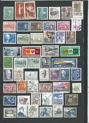 (No349) SWEDEN, Mostly Used, Small Stamp Collection