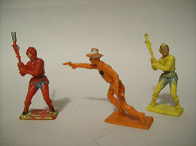 "CHERILEA  TOY SOLDIERS  ""  COWBOYS  ""   60mm    c1960'S"