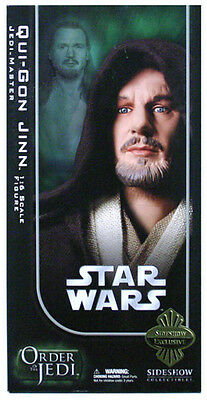"SIDESHOW COLLECTIBLES_Star Wars_QUI-GON JINN 12 "" fig._Exclusive Limited Edition"