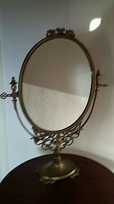 Reproduction  brass mirror