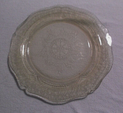 "PATRICIAN Depression Glass 11"" Plate-Yellow Amber by FEDERAL GLASS CO...1933-37"