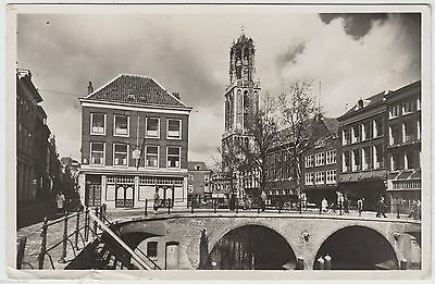 UTRECHT - Oude Gracht - Netherlands - 1947 used Real Photo postcard