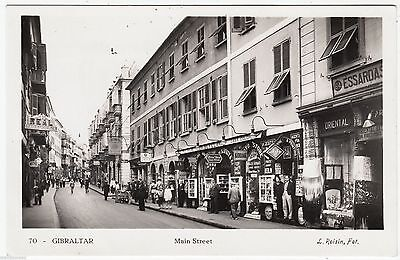 GIBRALTAR - Main Street - L Roisin #10 - c1950s era Real Photo postcard