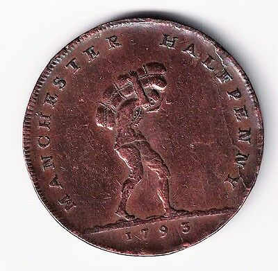 Manchester Cotton Porter Canal 1793 Halfpenny Conder Token Success To Navigation