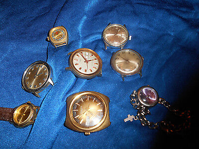 LOT OF 8 Vintage WATCHES Timex  Worldman Swiss