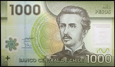 2010 Chile 1000 Pesos Banknote * Eb 01654920 * Unc * P-161 * Polymer *