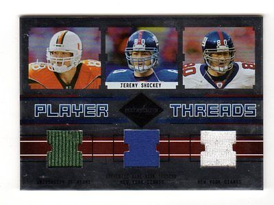 Jeremy Shockey Nfl 2003 Leaf Limited Player Threads (Giants,saints,panthers)