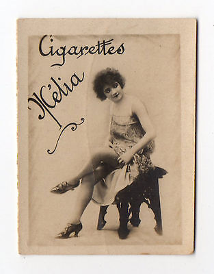 Cigarettes Melia Alger Algeria Cigarette Tobacco Card Plain Back Erotic Subject