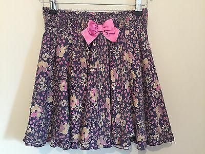 Pretty purple & pink floral skirt by Monsoon girls size 9 - 10 years