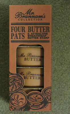Mr. Brannam's Collection - Set Of Four Butter Pats & Stamp - Royal Barum Ware