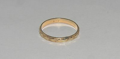Ornate 10K Yellow Gold Baby Ring Not Scrap