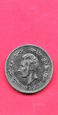 Ecuador Km85.2 1986 Unc-Uncirculated Large Old Sucre Coin