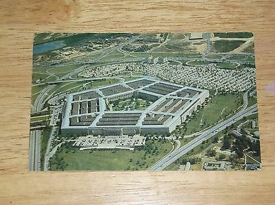 """Vintage Postcard Of The Pentagon """" A City In Itself """" Postcard Postmarked 1963"""