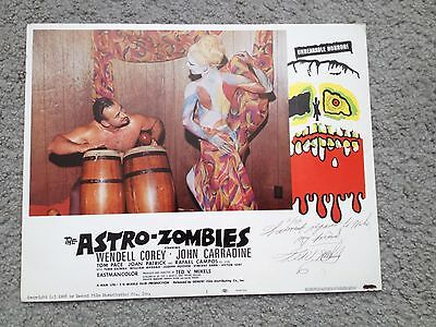 TED V. MIKELS THE ASTRO ZOMBIES Horror SIGNED BY DIRECTOR Vintage LOBBY CARD