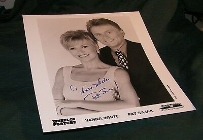 Wheel of Fortune VANNA WHITE & PAT SAJAK autographed photo