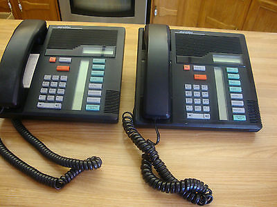 Two Nortel Meridian M 7208 Business Black Business Phone Made In Canada