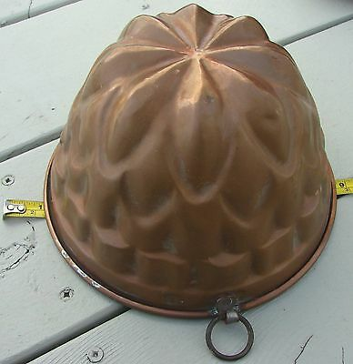Vintage Copper Jello Mold Tin Lining Italy Ring For Hanging