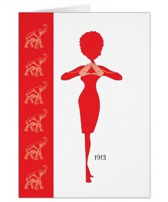 Delta Sigma Theta Inspired Elephants Greeting Cards / Art (lot of 2)