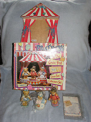 Cherished Teddies 1995 In The Center Ring Circus Tent Collectors Set Box Papers