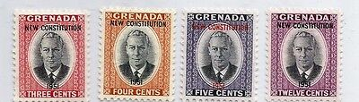 Grenada Postage Stamp Scott #166 - #169 King George VI New Constitution MNH