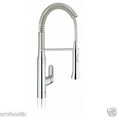 GROHE 31379000 K7 Single Lever Kitchen Mixer Chrome Tap w/ Professional Spray