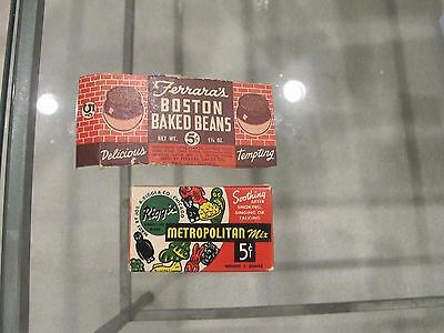 Old Candy Box 5Cent Metroplatin Mix Riggis Full = Boston Baked Bean part box