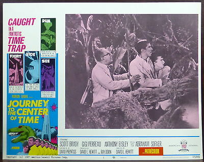 Sci-Fi Journey to the Center of Time SET 8 ORIGINAL 1960s Lobby Cards Perreau