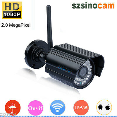 Outdoor 2MP Wireless WiFi 1080P HD IP Network CCTV Security Camera Night Vision