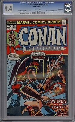 Conan The Barbarian #23 - CGC Graded 9.4 - 1st Red Sonja - Suscha News Pedigree