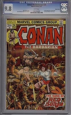 Conan The Barbarian #24 - CGC Graded 9.8 - 2nd Red Sonja - Suscha News Pedigree