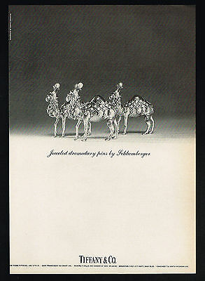 1969 Tiffany Jewelry Schlumberger Camel Dromedary Pins Vintage Print Ad