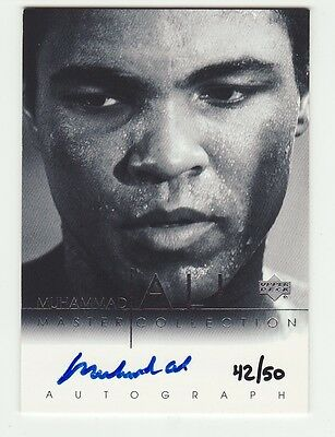 Muhammad Ali 2000 Upper Deck Master Collection On Card Auto Autograph #42/50