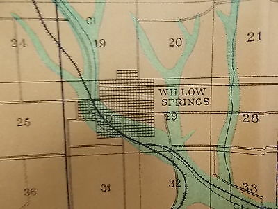 Antique 1902 Map Missouri Howell County Pottersville Willow Springs Approx 28X48