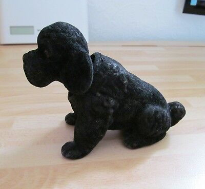 Vintage - Rare - Beauty Ware by Fairylite - Black Nodding Poodle Dog - Good Cond