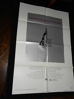 Lady Sings The Blues Billie Holiday Biography  Original Folded One Sheet Poster