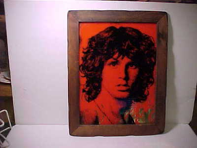 Jim Morrison The Doors  Picture Red Silver Wood Frame Nice