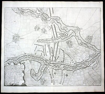 Tienen - Plan of the Passage of the Lines of Brabant forced July 18. 1705 by the