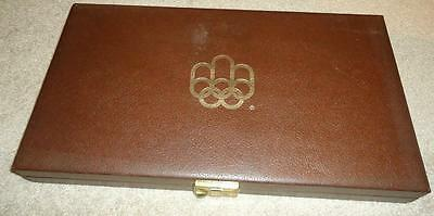 Vintage Canadian Olympic Silver Coin Set Case Only 1976
