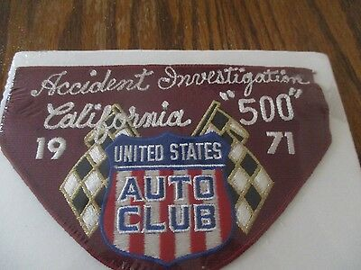 1971 California 500 USAC Armband Auto Race Indy Car Accident Investigation