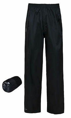 Trespass Packa Trousers - Black Kids Waterproof Trousers Age 5-6 Years Box6009 D